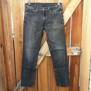 Levi's 511 slim skinny fit jeans size 34 gray